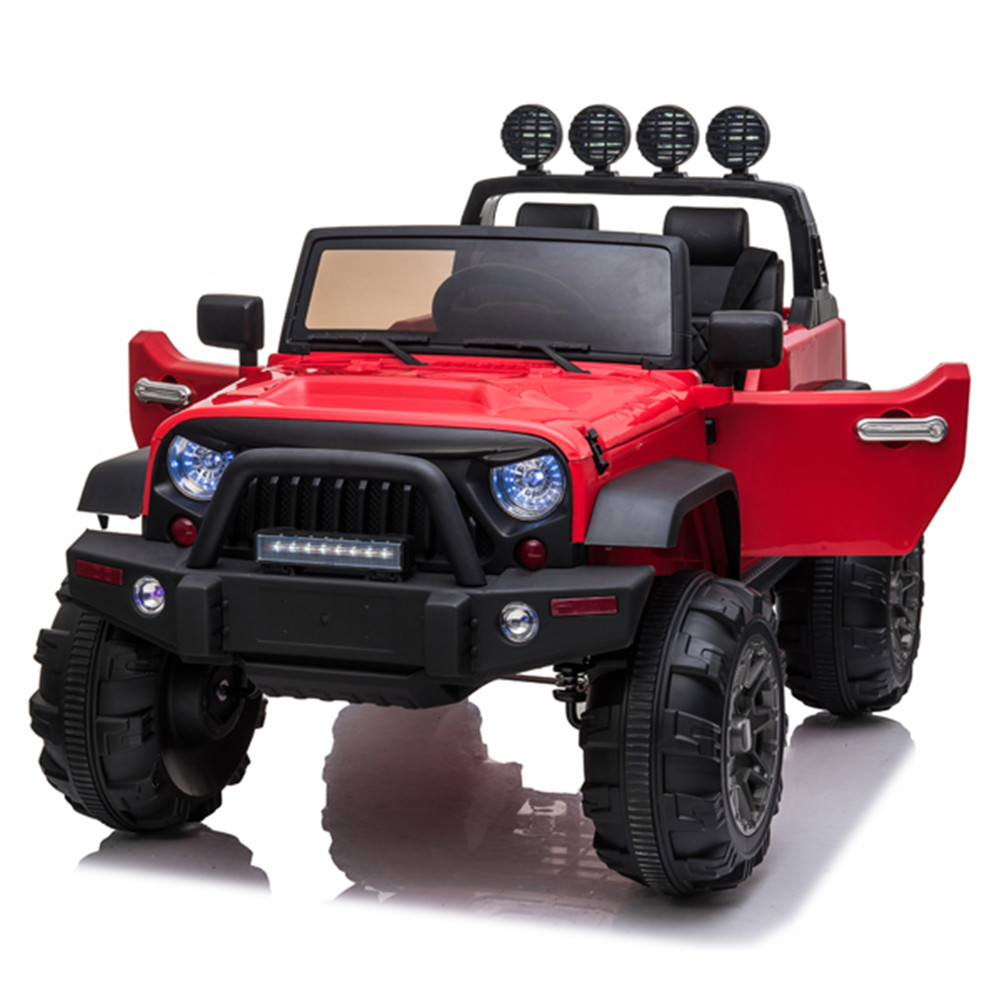[US Direct] 12v Kids Ride On Electric  Car Remote Control Suv Toy Dual Drive 3 Speeds red