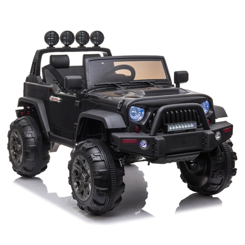 [US Direct] 12v Kids Ride On Electric  Car Remote Control Suv Toy Dual Drive 3 Speeds black
