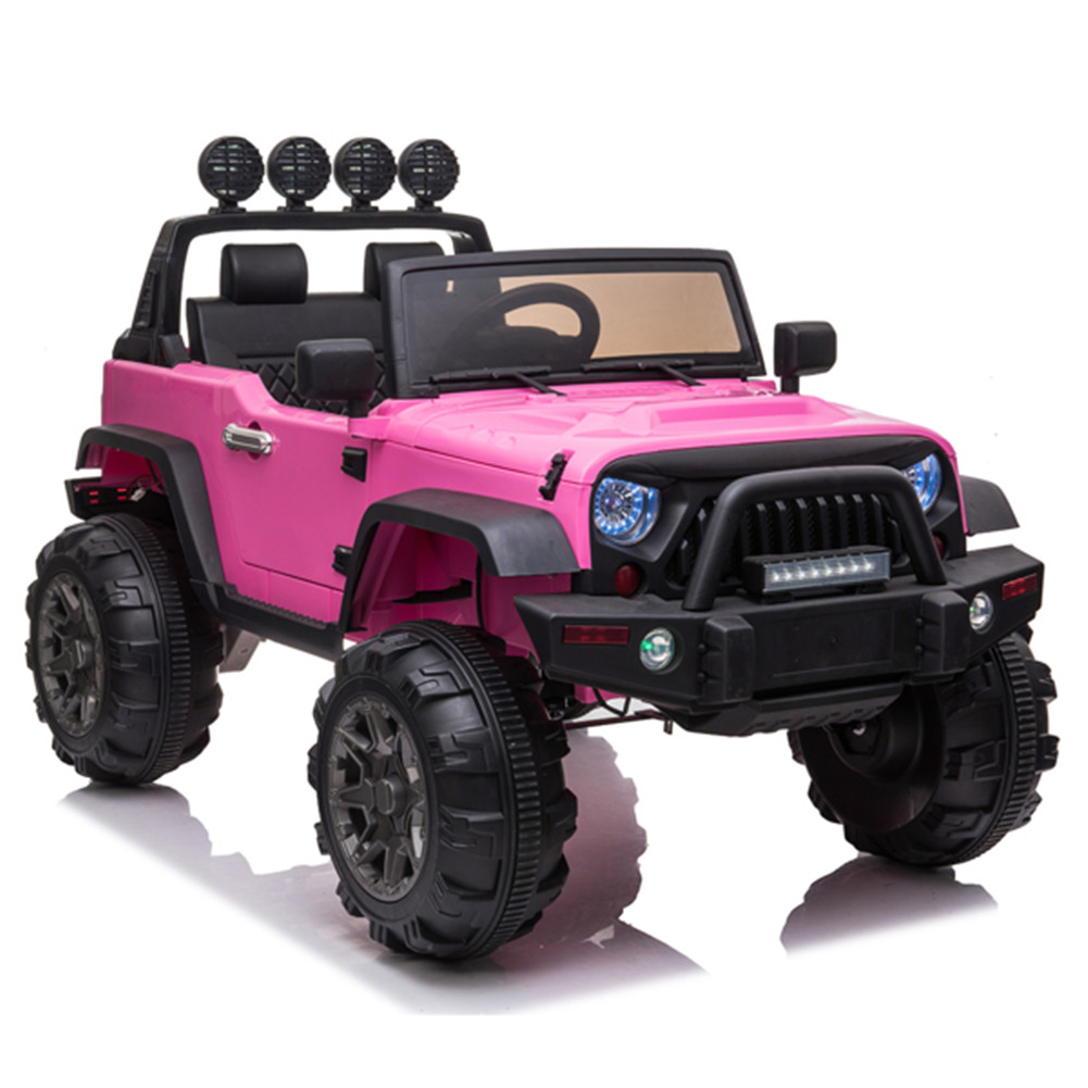[US Direct] 12v Kids  Ride  On  Electric  Car Remote Control Suv Toy Dual Drive 3 Speeds Pink