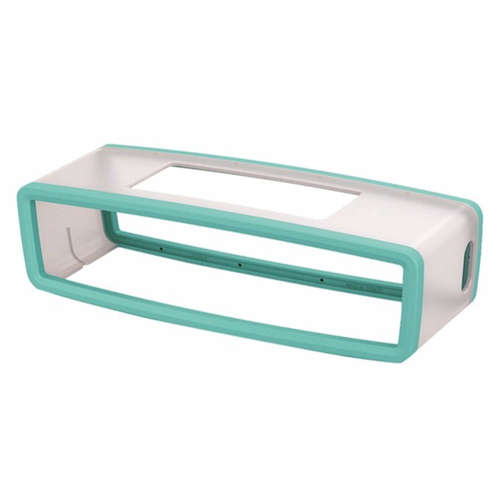 Portable Silicone Case for Bose SoundLink Mini 1 2 Sound Link I II Bluetooth Speaker Protector Cover Skin Box Speakers Pouch Bag Mint green