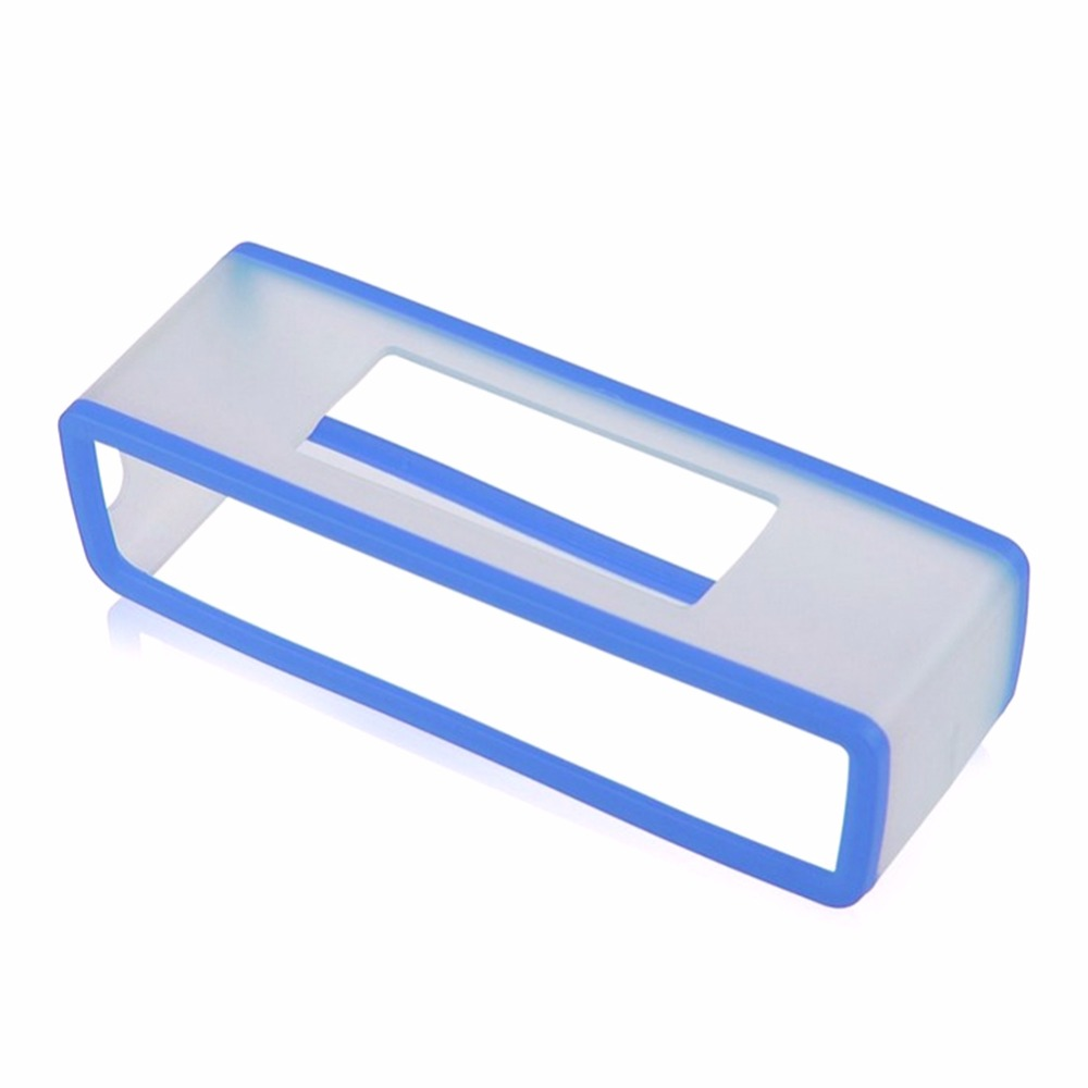 Portable Silicone Case for Bose SoundLink Mini 1 2 Sound Link I II Bluetooth Speaker Protector Cover Skin Box Speakers Pouch Bag blue