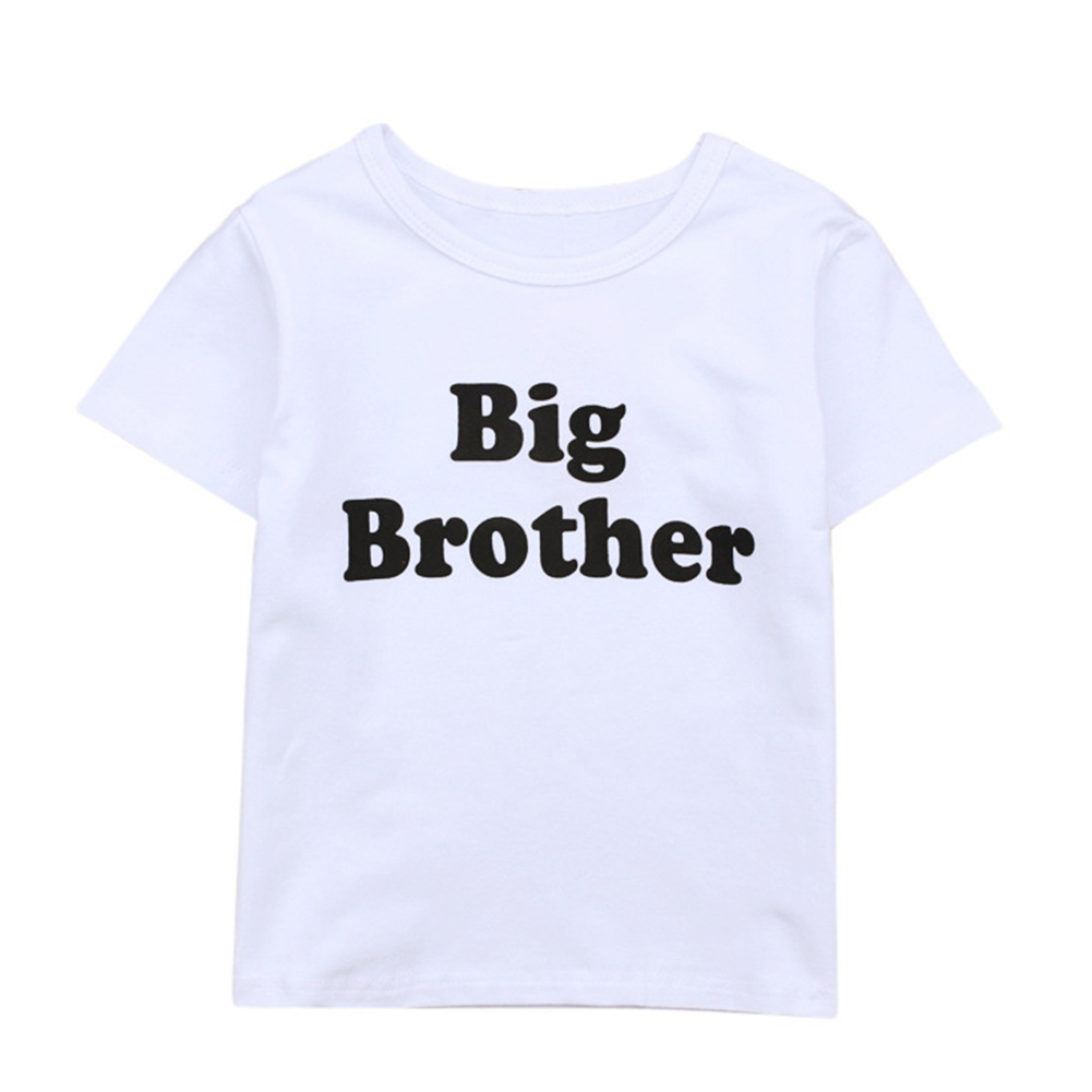 Baby Boy Big Brother Letters Printed Jumpsuit Baby Rompers Short Sleeve T-shirt Clothes