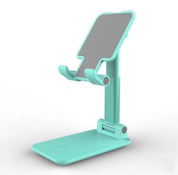 Foldable Phone Stand Metal Cellphone Holder Adjustable Desk Bracket Smartphone Mount Universal for iOS/Android Moble Phone Green