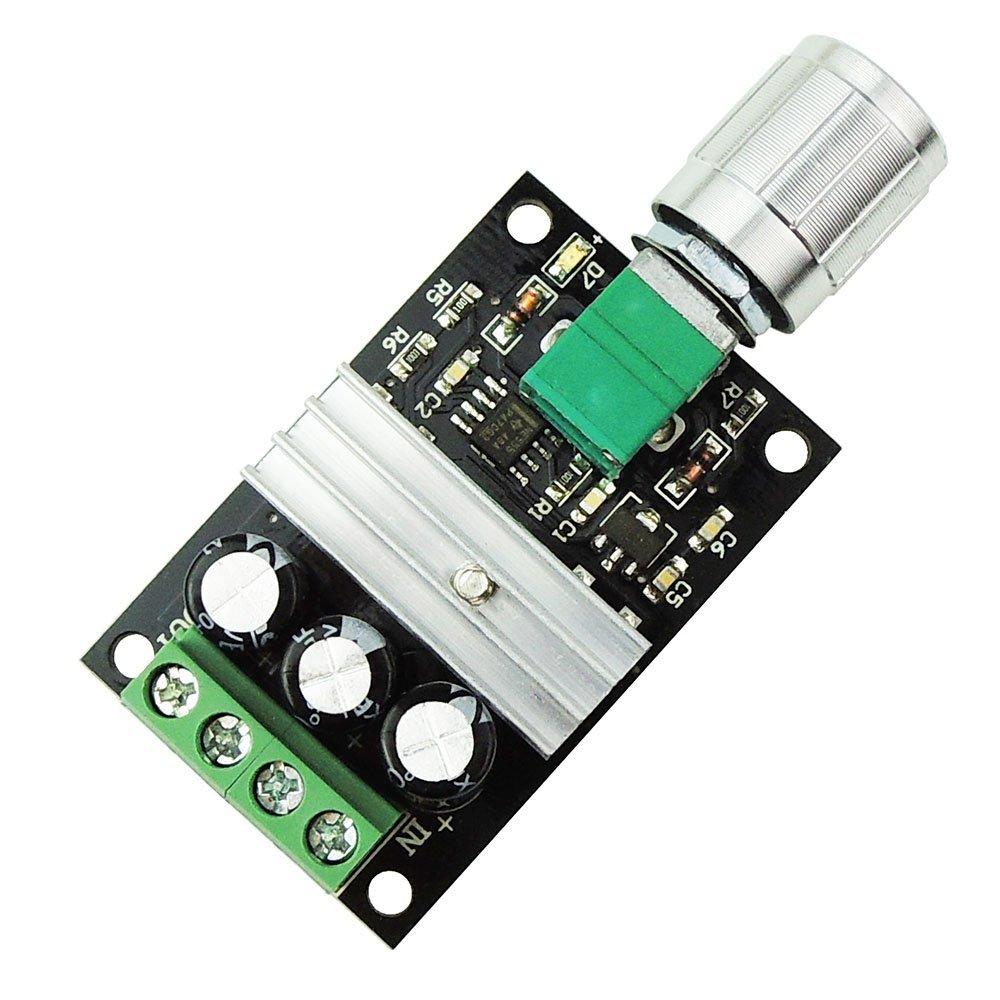 6V 12V 24V 28V 3A 80W DC Motor Speed Controller PWM Adjustable Variable Speed Switch DC Motor Driver  PWM