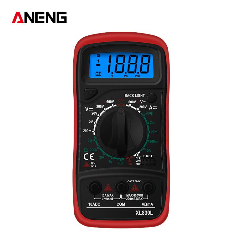 Handheld  Digital  Multimeter Xl830l Ac/dc Voltage Detector Tester Measurement Tool red