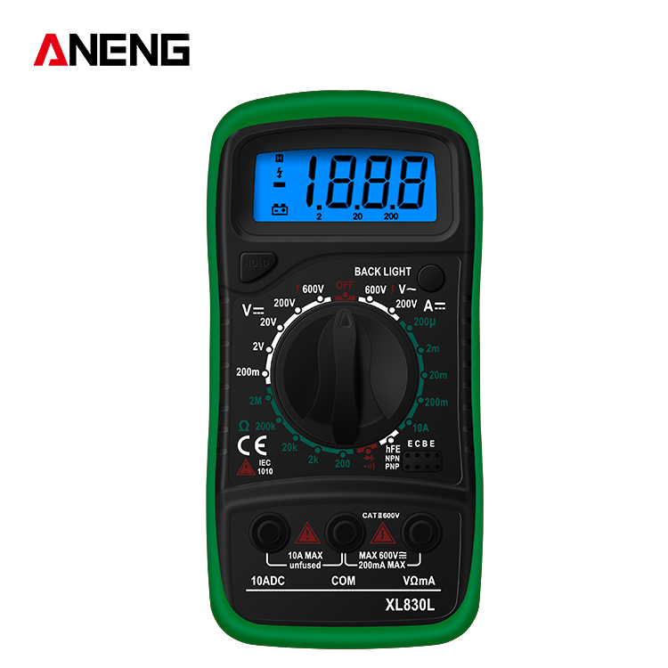 Handheld  Digital  Multimeter Xl830l Ac/dc Voltage Detector Tester Measurement Tool green