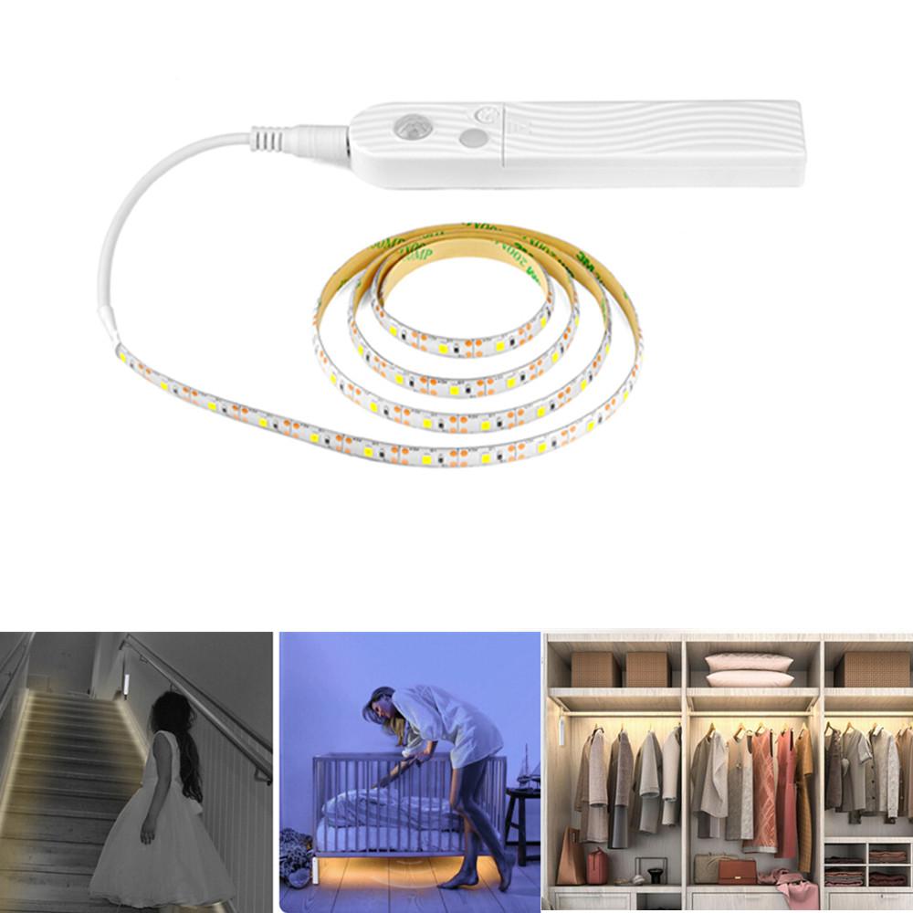 3M LED String Light with Motion Sensor for Closet Wardrobe Cabinet Stairs Hallway Decor Warm white light