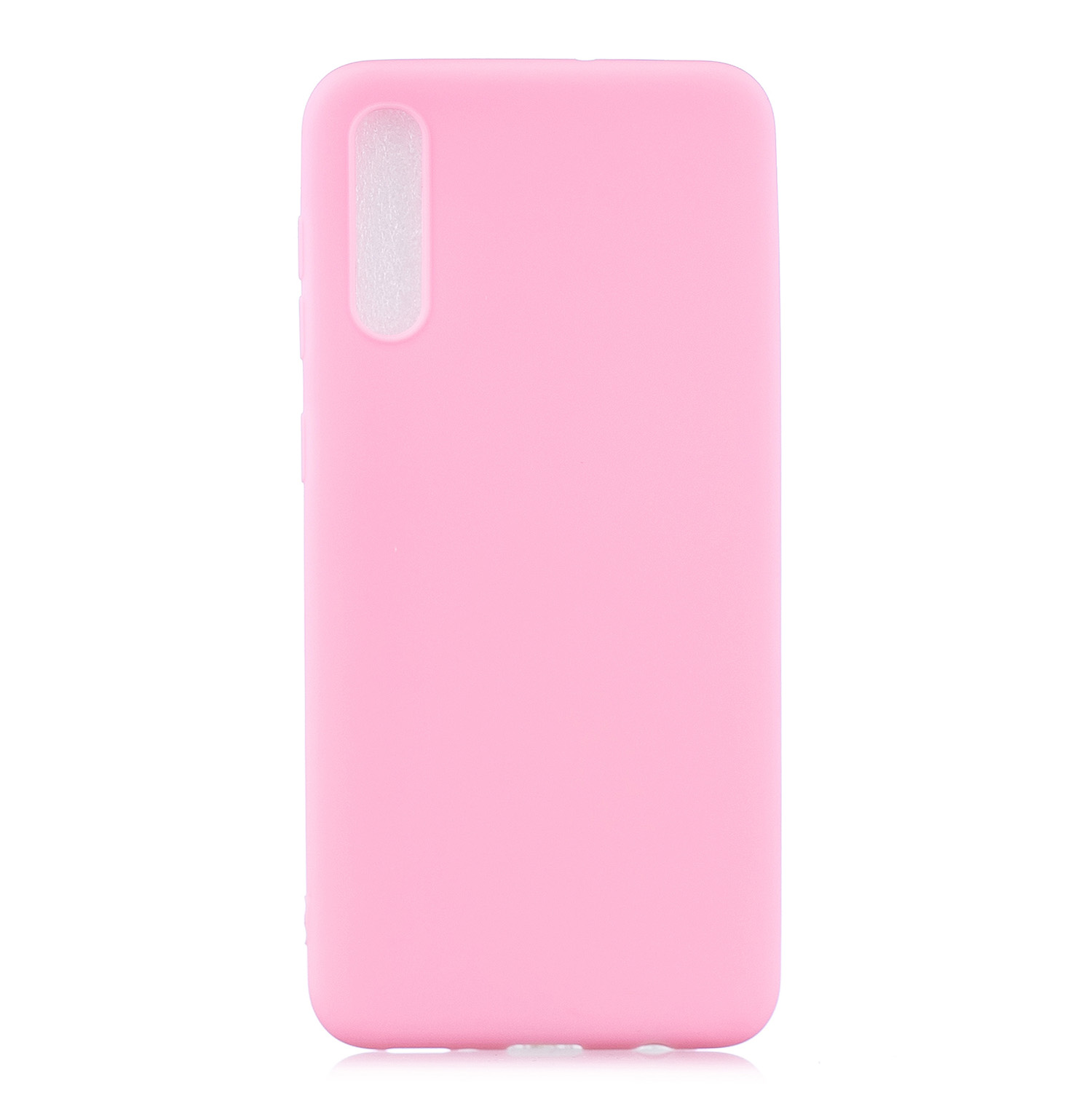 For Samsung A50 Lovely Candy Color Matte TPU Anti-scratch Non-slip Protective Cover Back Case dark pink