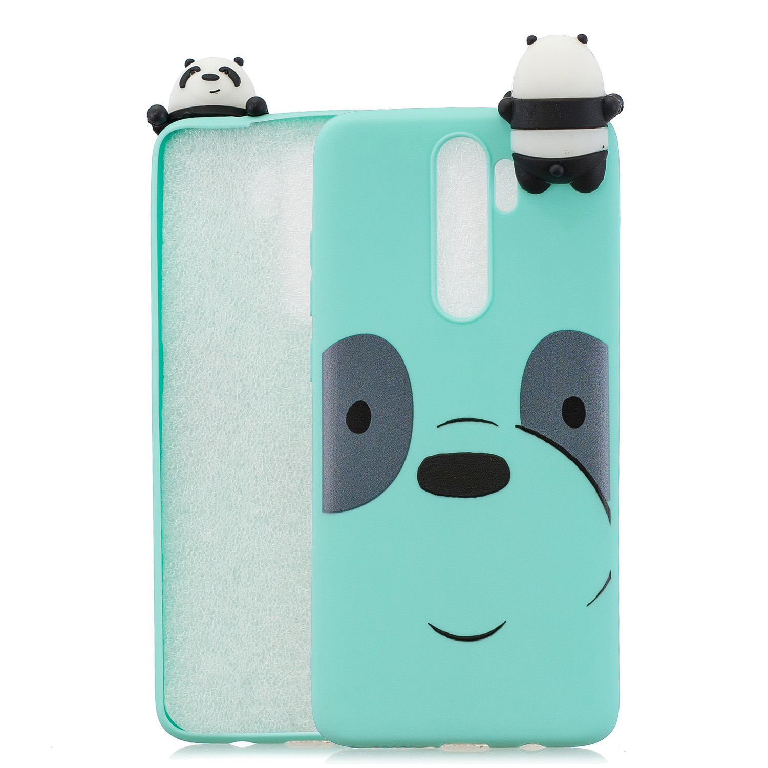 For Redmi NOTE 8 NOTE 8 pro 3D Color Painting Pattern Drop Protection Soft TPU Back Cover Mobile Phone Case Light blue