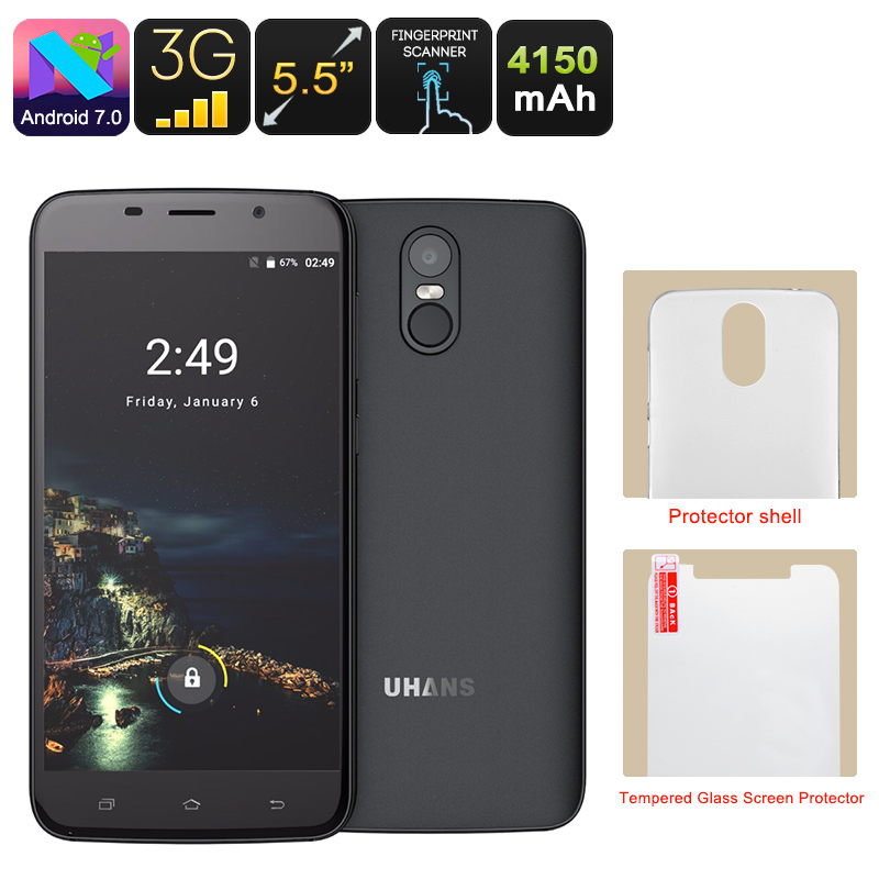 Uhans A6 Android Phone (Black)