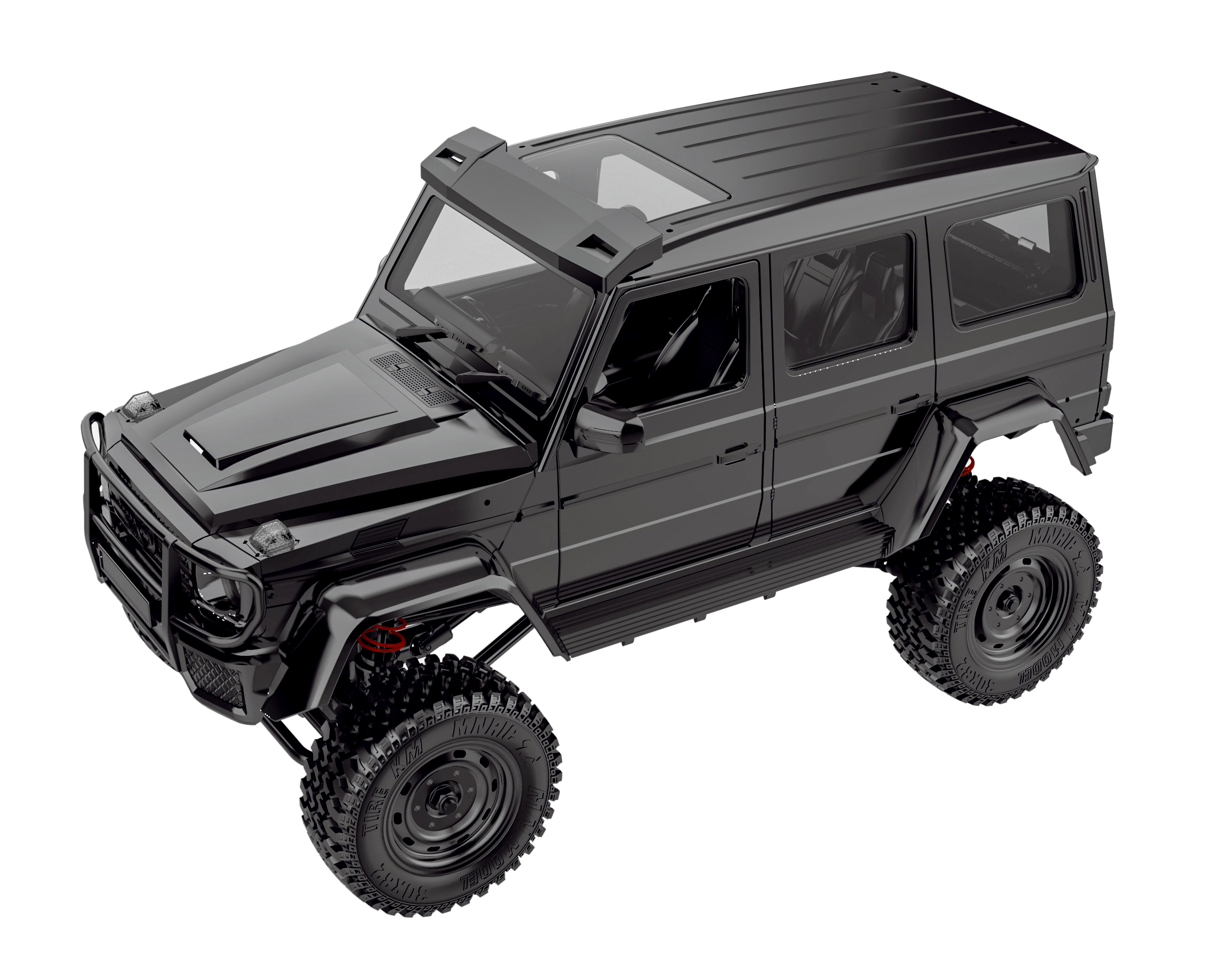 Mn86k 1/12 2.4g Four-wheel Drive Climbing Off-road Vehicle Toy G500 Assembly  Version black