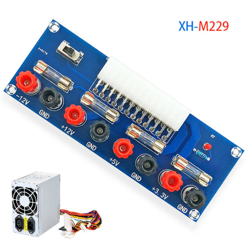 XH-M229 Desktop PC Power ATX Transfer Board Supply Power Module Precise 24Pin(Blue) blue