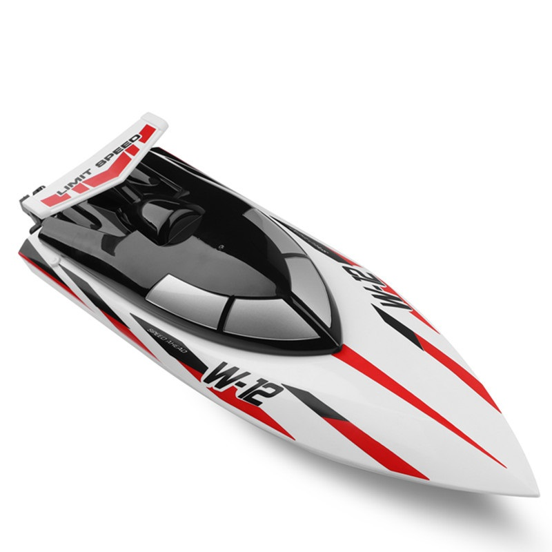 Wltoys WL912-A High Simulation Remote Control Boat Type Wireless High Speed 2.4G Anti-tip RC Speedboat Red and white