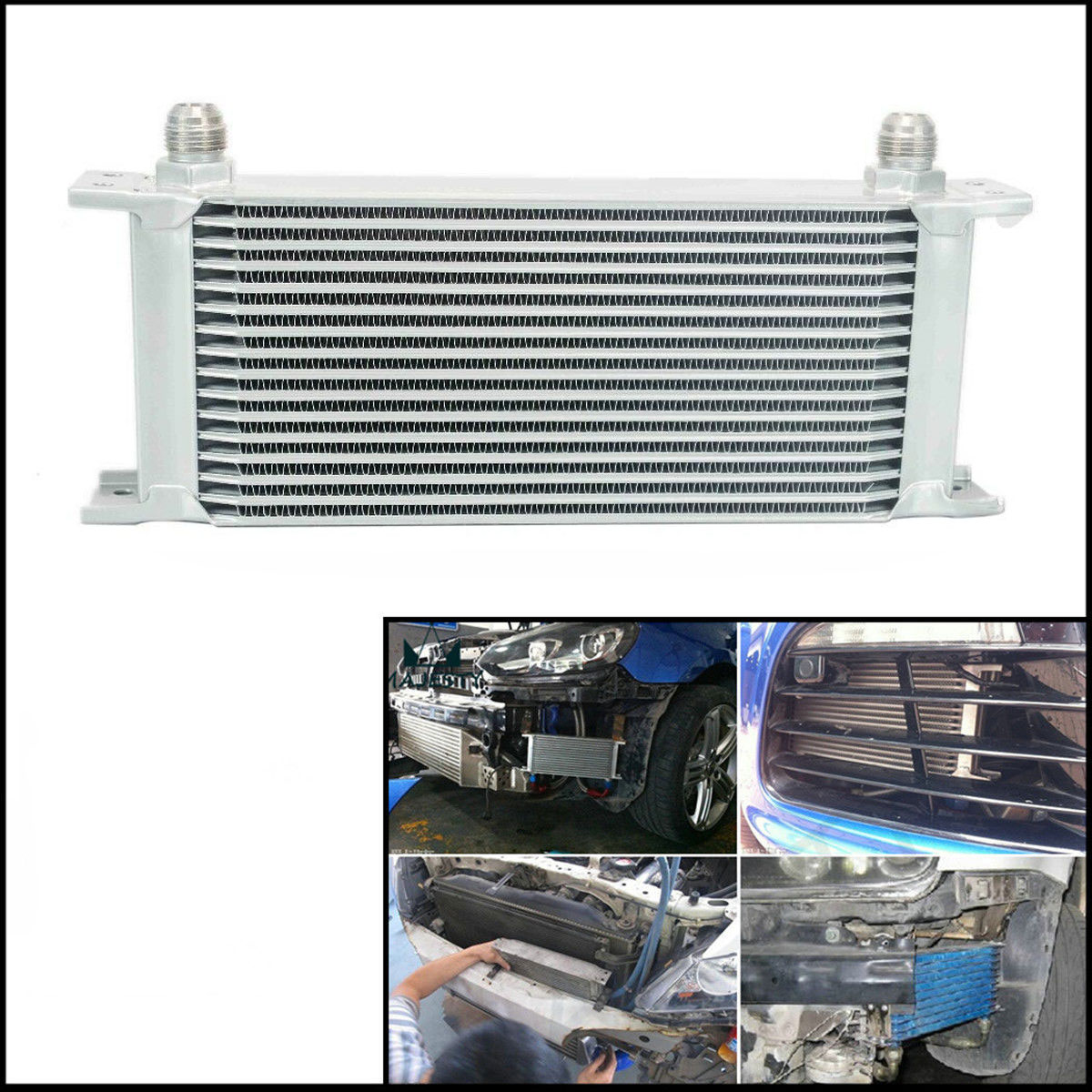 16 ROW AN-10AN Engine 248mm Aluminum Oil Cooler Gearbox Radiator