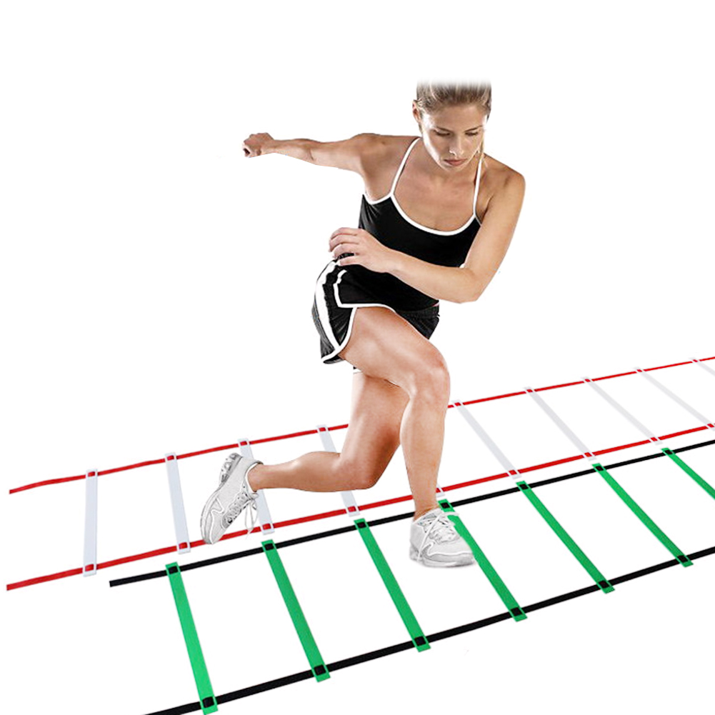 6/12/16/20 Rung Nylon Straps Training Ladders Agility Speed Ladder For GYM Soccer Sports Speed Exercise Tools 3M 6 Rungs