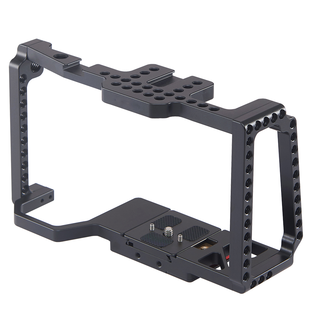 DSLR Camera Cage Pocket Camera Frame for Blackmagic Pocket Cinema Camera 4K/6K BMPCC 2203 black