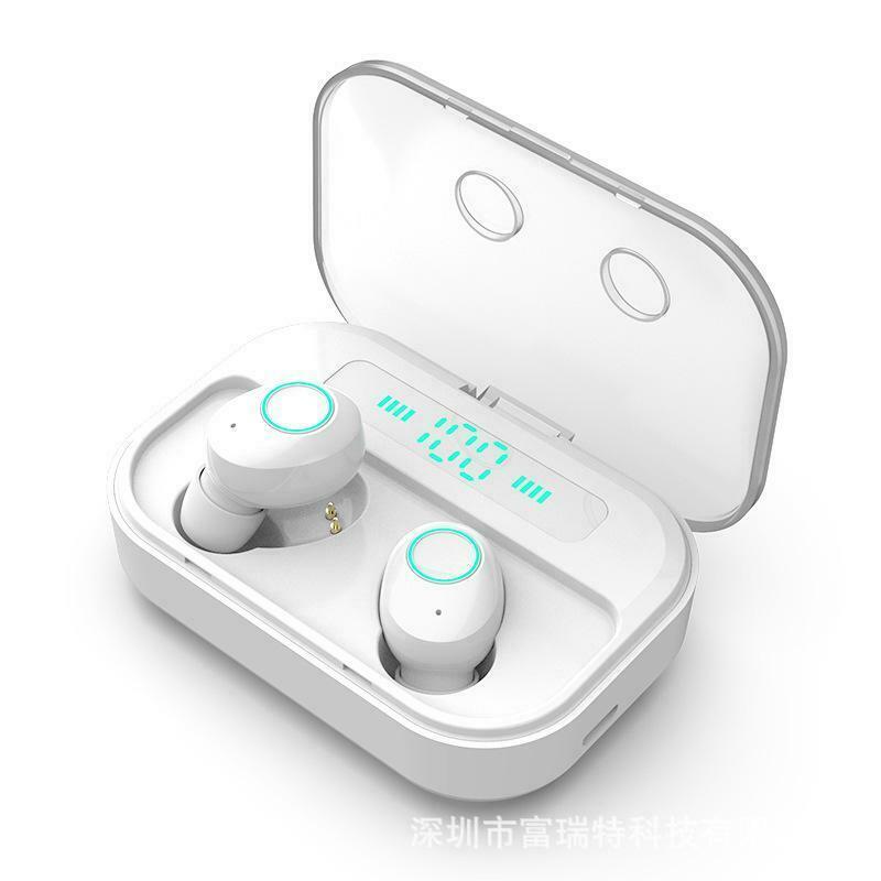 Bluetooth 5.0 Headset TWS Wireless Earphones Mini Earbuds Stereo Headphones Wireless Earphones white