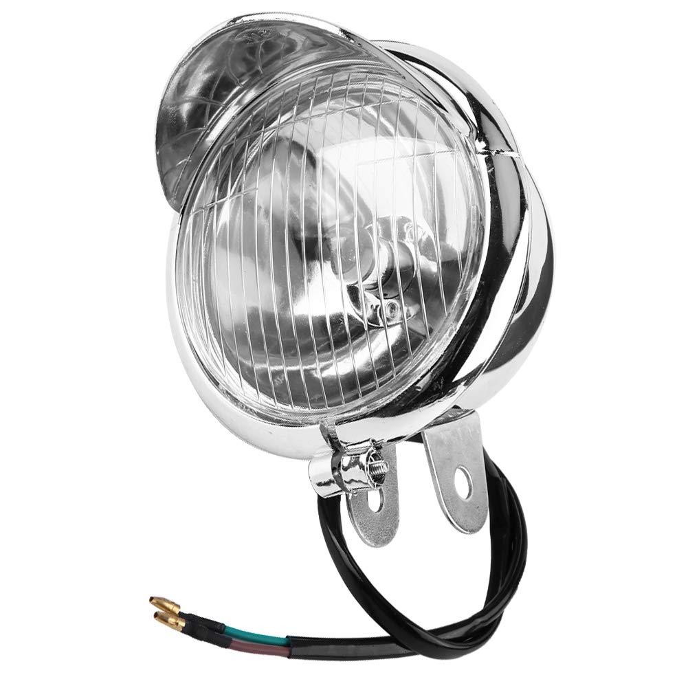 12v Universal Chrome Color ABS Motorcycle Fog Lights Headlight Lamp 1