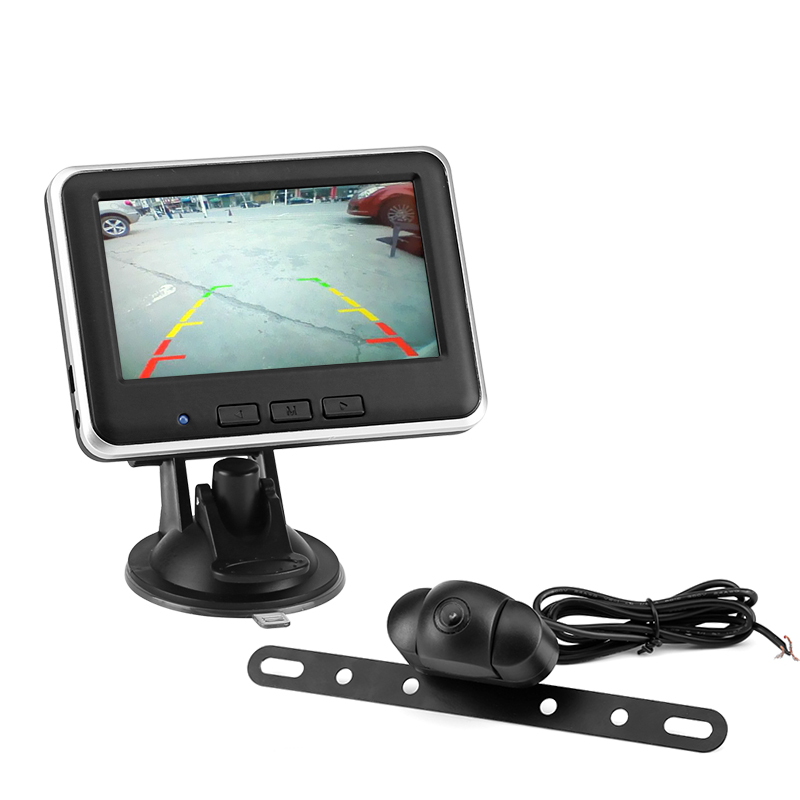 Wireless Rearview Backup Camera Kit - 120 Degree FOC, 4.3 Inch Display, Up To 150M Transmitting Range