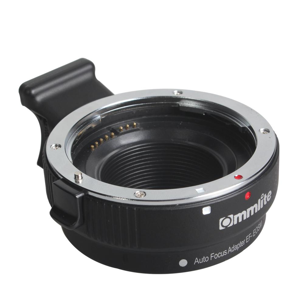 Commlite EF-EOSM AF Auto Focus Lens Adapter for Canon EF EF-S Lens to EOS M M1 M2 M3 M5 M6 M10 EF-M Mount Camera  black