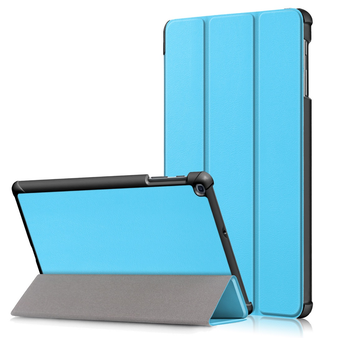 For Samsung Tab A 10.1 2019 T510 t515 Tablet PC Protective Case Flip Type sky blue