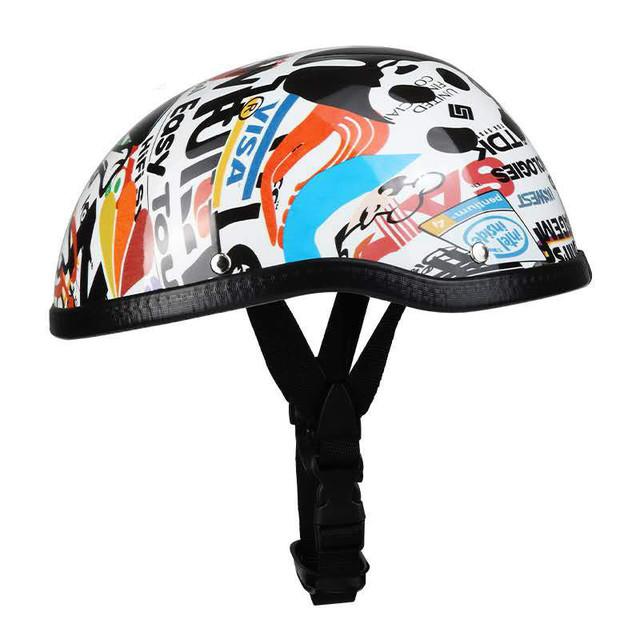 Adult Motorcycle Half Face Vintage Helmet Hat Cap Motorcross Moto Racing Helmets pirate
