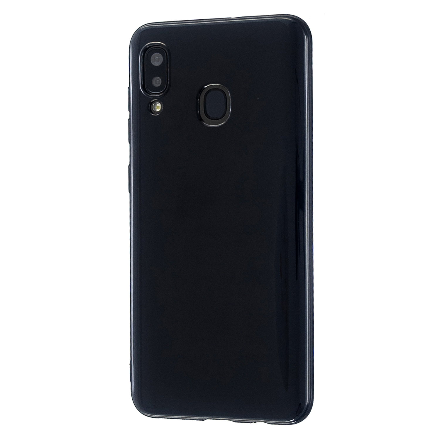 For Samsung A10/A20/A30/A50 Phone Case Soft TPU Overal Protection Precise Cutouts Easy to Install Cellphone Cover  Bright black