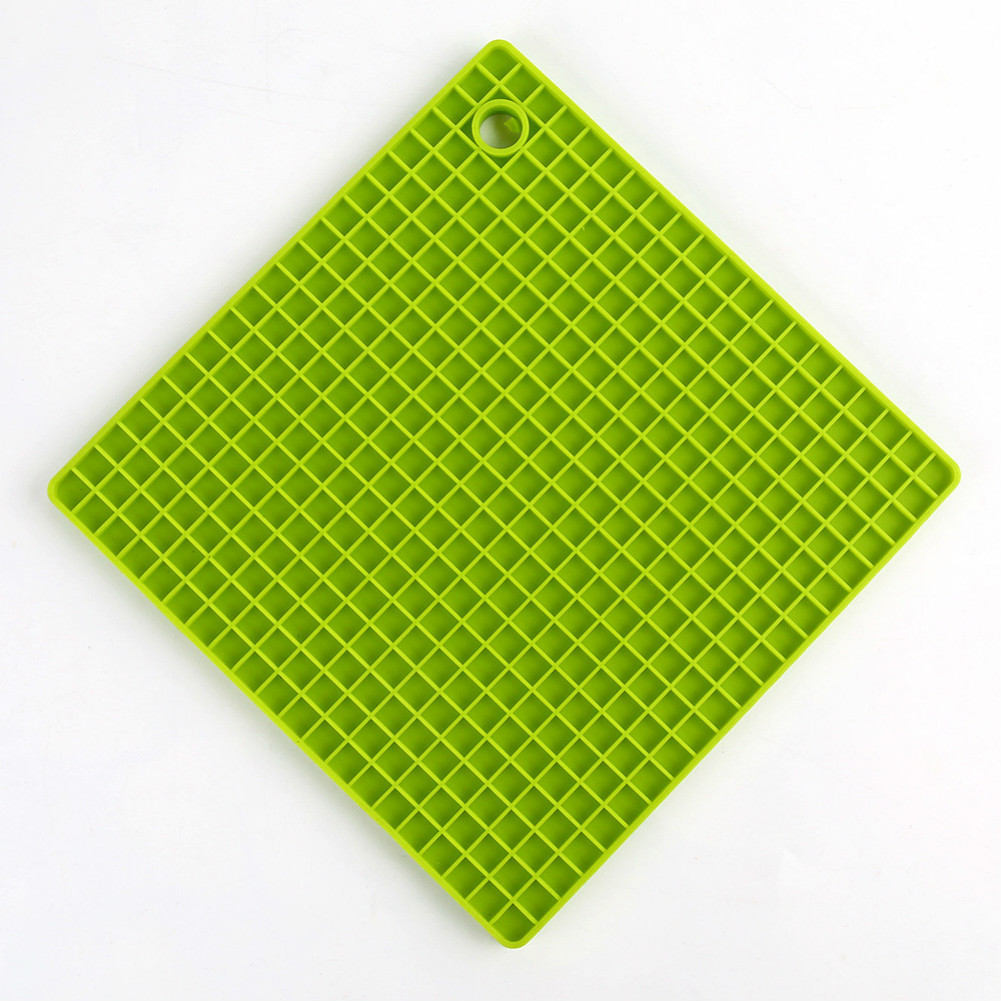 Silicone Pot Holders (Set of 1), Silicone Multi-Purpose Hot Pads Heat Resistant to446 °F, Non-slip, Insulation, Durable, Flexible Trivet for Table Kitchen  green