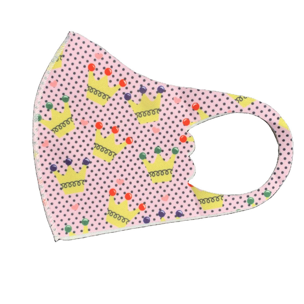Children's Mask Dust Proof Breathable Washable Cartoon Print Hanging Ear Type Mask Crown_Packaging-already replaced