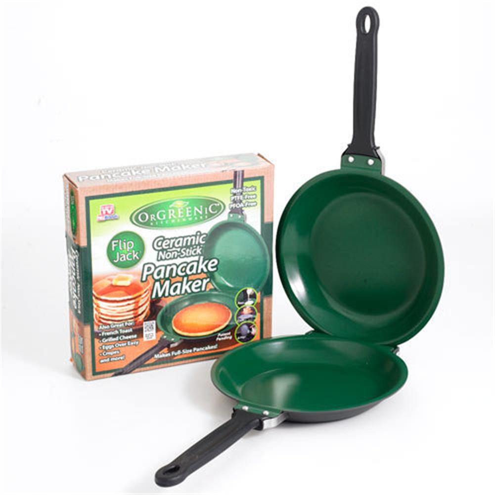 [EU Direct] Easy Flip  NonStick Cookware Pancake Maker  Double Pan
