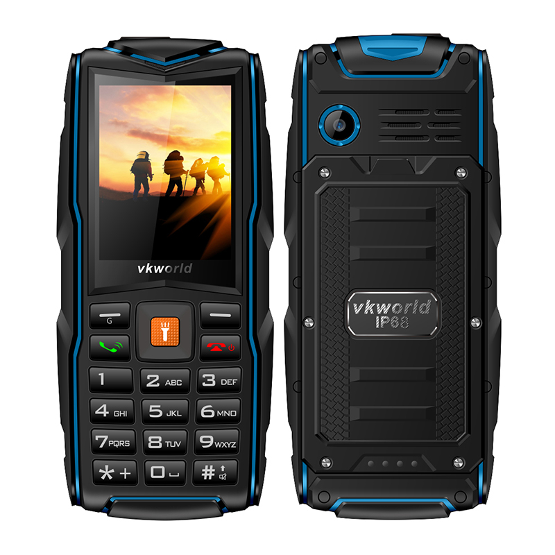 Blue Quad Band cell phone