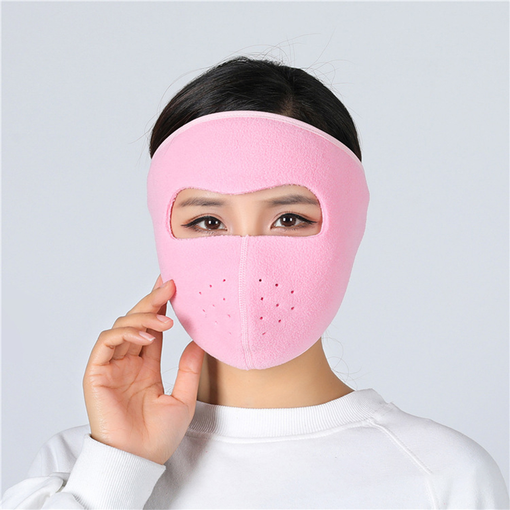 Motorcycle Cycling Ski Cold Winter Cold-proof Ear Warmer Sports Half Face Mask Pink_free size