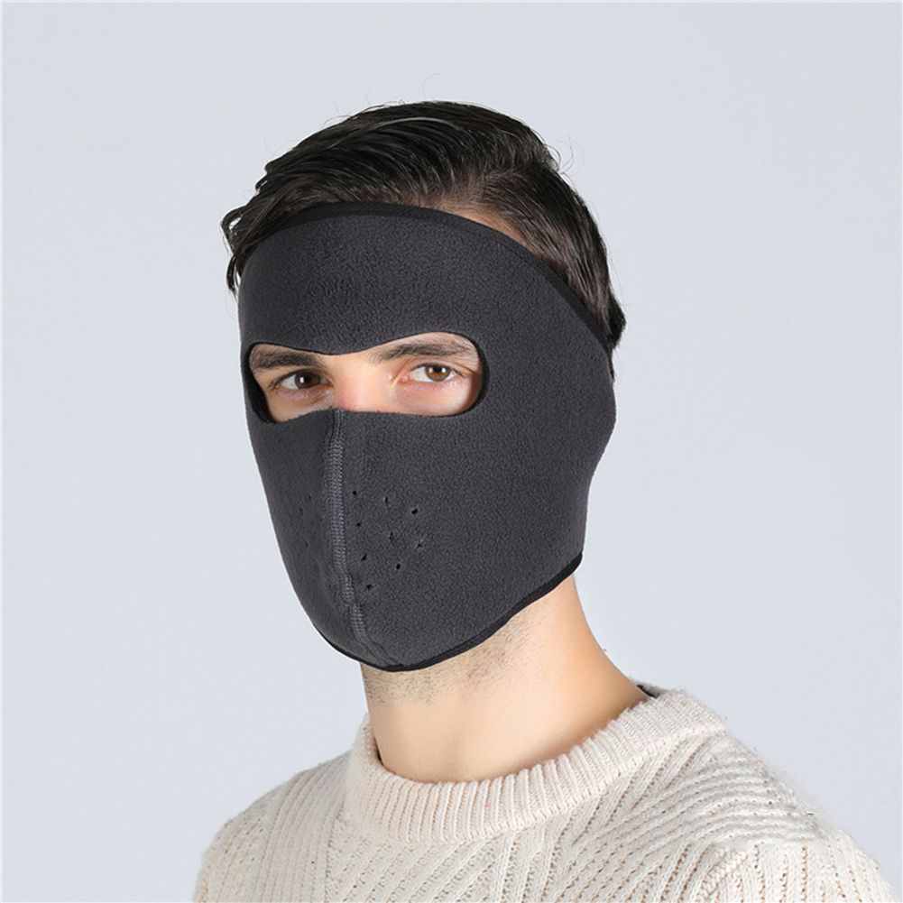Motorcycle Cycling Ski Cold Winter Cold-proof Ear Warmer Sports Half Face Mask Dark gray_free size