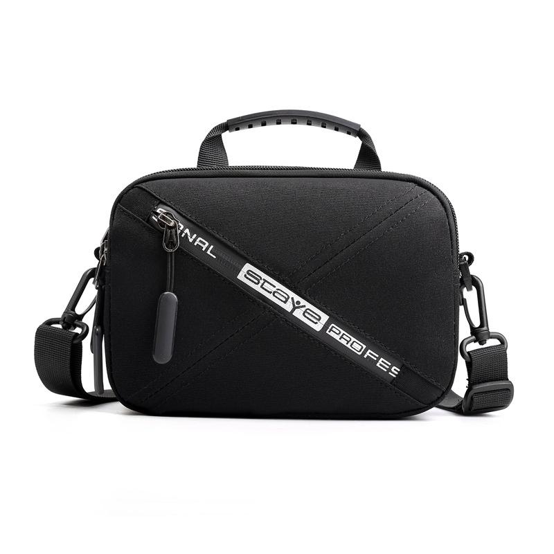 Men Waist Bag Double Layer Waterproof Black