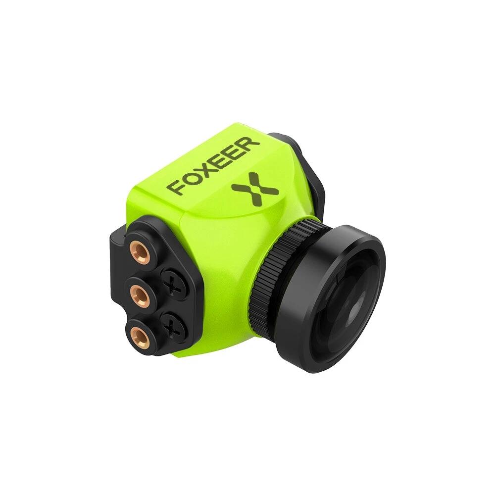 Foxeer Predator V5 FPV Camera Racing Drone Mini Camera16:9/4:3 PAL/NTSC switchable Super WDR OSD 4ms Latency Upgarded PredatorV4 Green 2.5MM