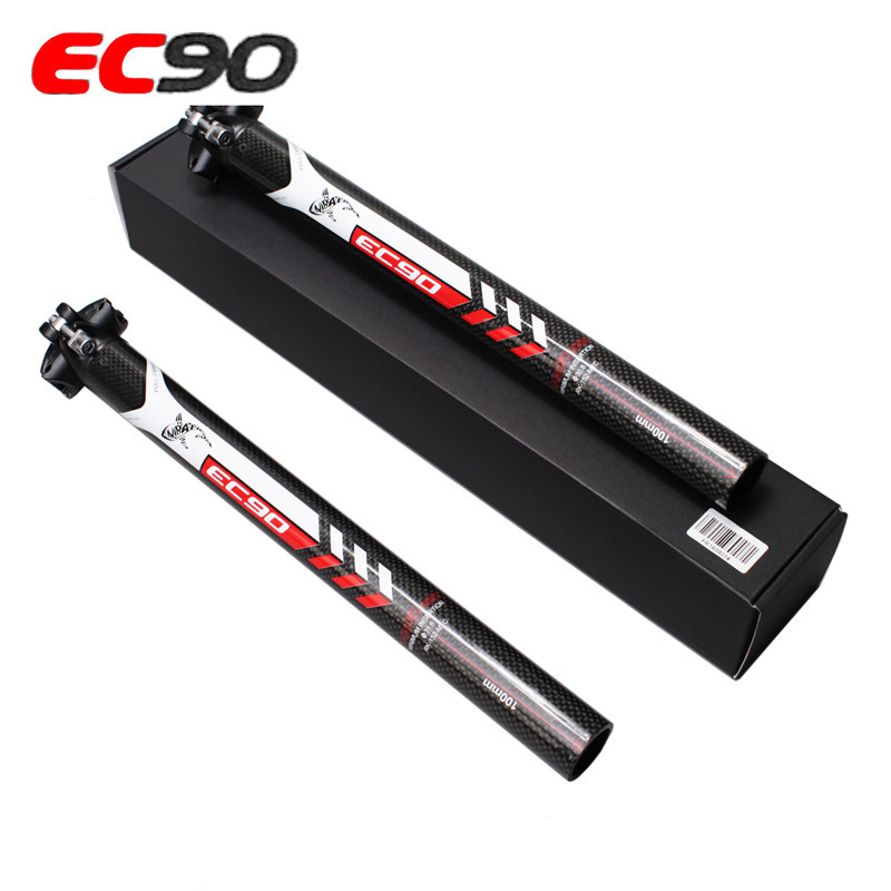 MTB Carbon Fiber Bicycle Seatpost Ultralight Seat Tube Seatpost 27.2 30.8 31.6mm Road Bike Seat Tube Seat Post red_27.2-400mm