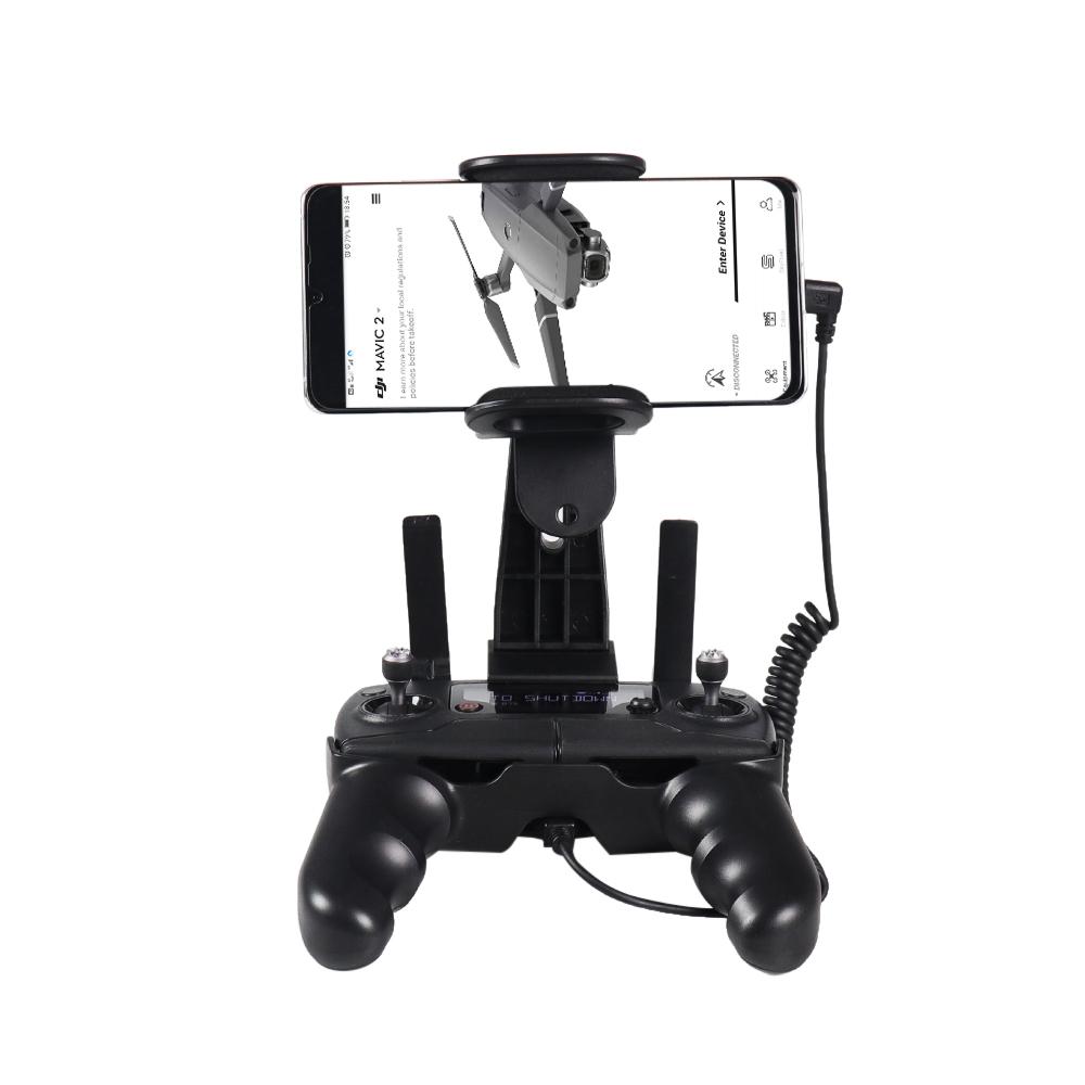 Controller Holder Phone Tablet Mount Bracket Clip for DJI Mavic Mini/Mavic 2/Enterprise/Mavic Pro/Mavic Air/Spark black