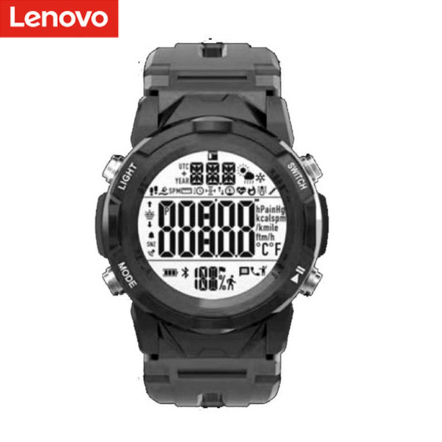 Original LENOVO C2 Smartwatch Fitness Tracker Heart Rate Sleep Monitor Watch Waterproof Women Men Sport Smart Watch black