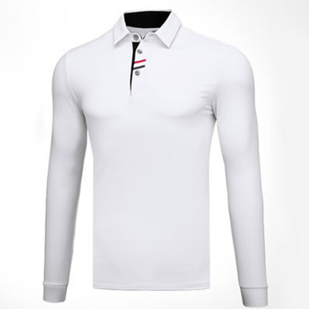 Golf Clothes Male Long Sleeve T-shirt Autumn Winter Clothes YF095 white_M