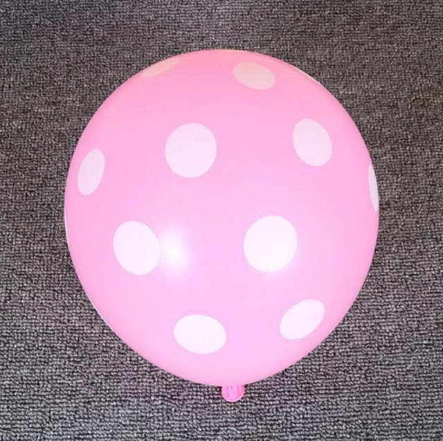 [US Direct] 12 Inches Light Pink Dot Polka Dot Balloons - Made in USA