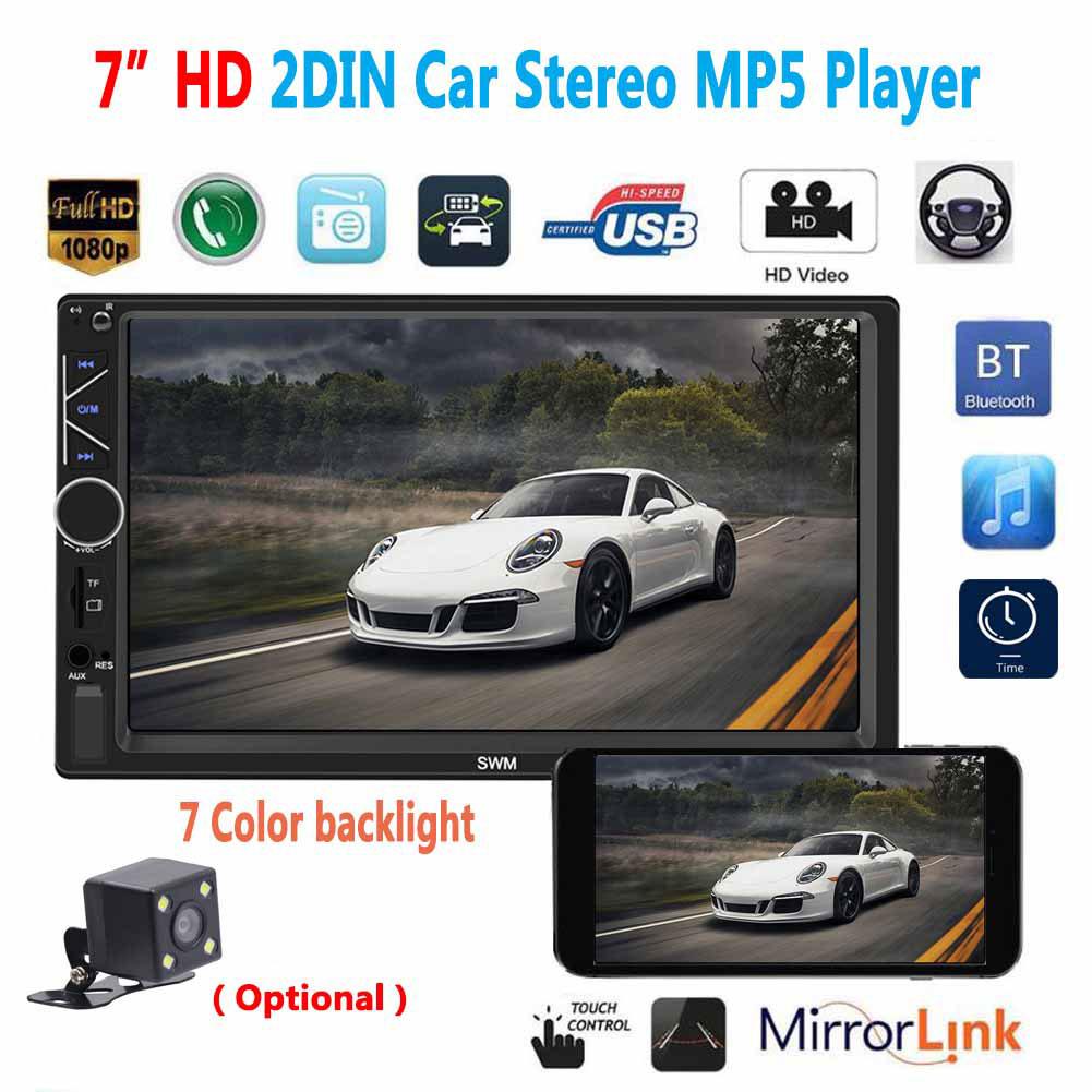 2 Din 7 inch Car Radio Autoradio Universal Car Multimedia MP5 Player HD Bluetooth Usb Flash Drive Phone Interconnect MP3 Player Radio Without camera