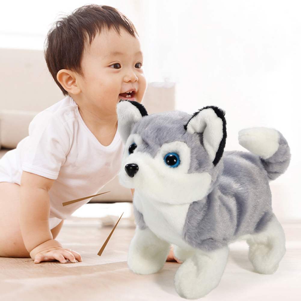 Children Electric Plush Toy Cute Simulation Puppy Plush Toys Electric Husky