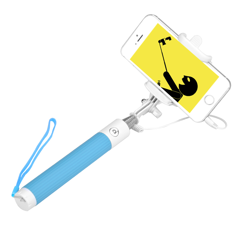 iOS + Android Selfie Stick (Blue)