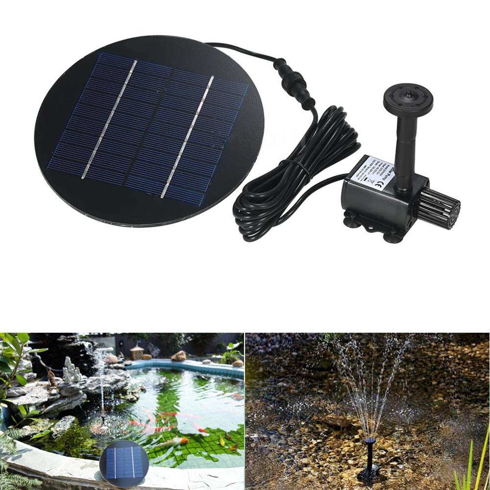 Separating Solar Powered Fountain for Garden Pond Decor