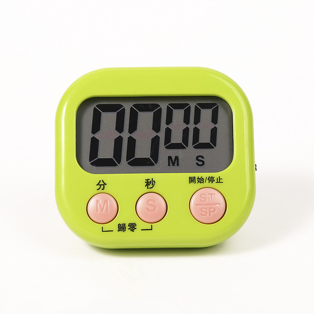 Baking Timer Kitchen Alarm Clock Countdown Stopwatch Student Timer Chronograph Electronic Reminder green