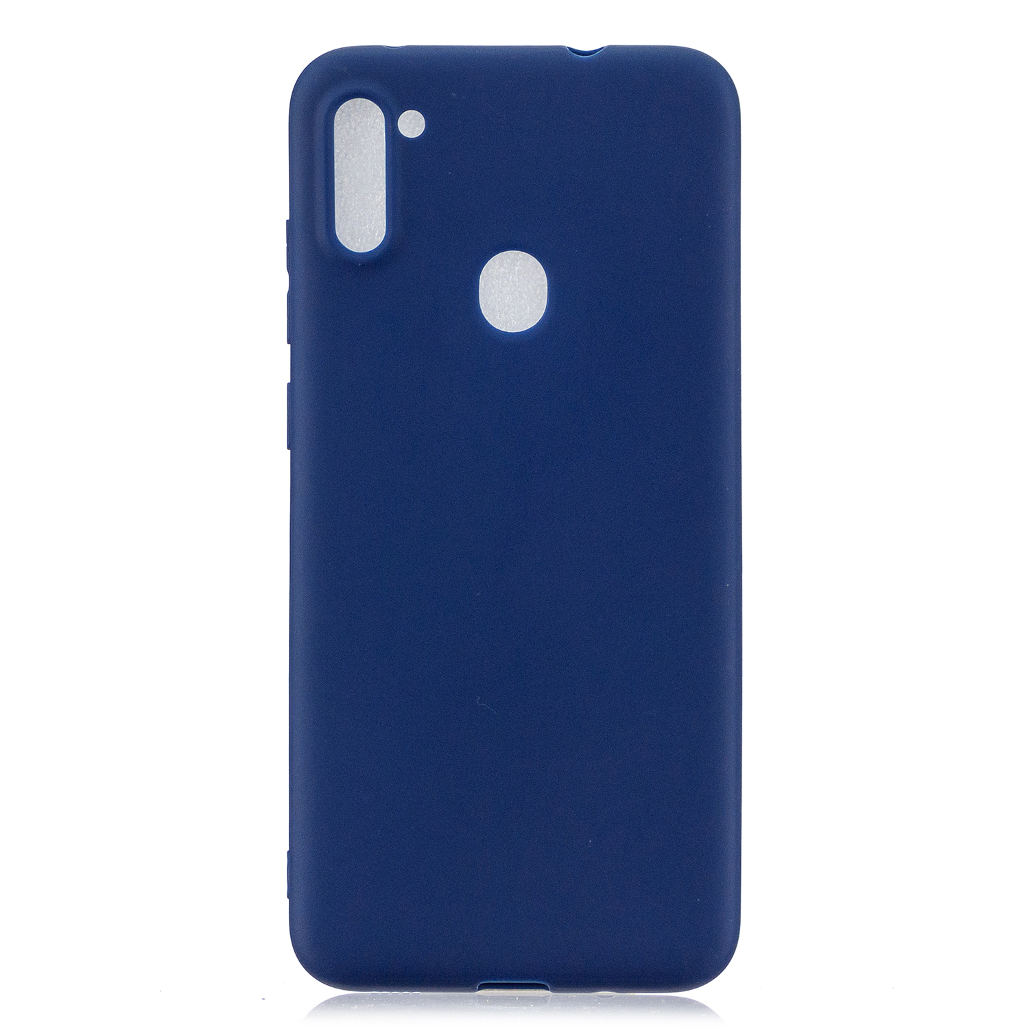For Samsung A01/ A11/A21/A41/A51/A71/A81/A91 Mobile Phone Case Lovely Candy Color Matte TPU Anti-scratch Non-slip Protective Cover Back Case 7 royal blue