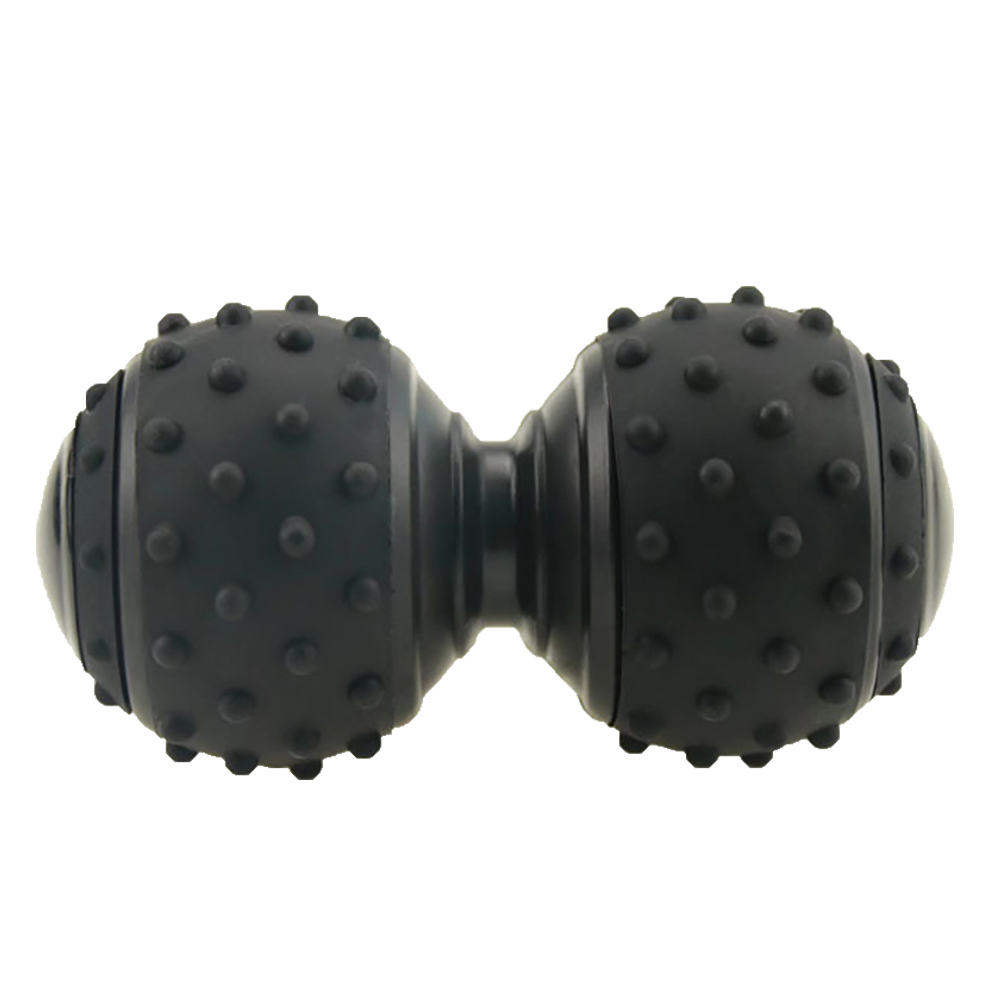Convex Silicone Massage Ball Yoga Roller Body Massager Back Trigger Pain Reliever black