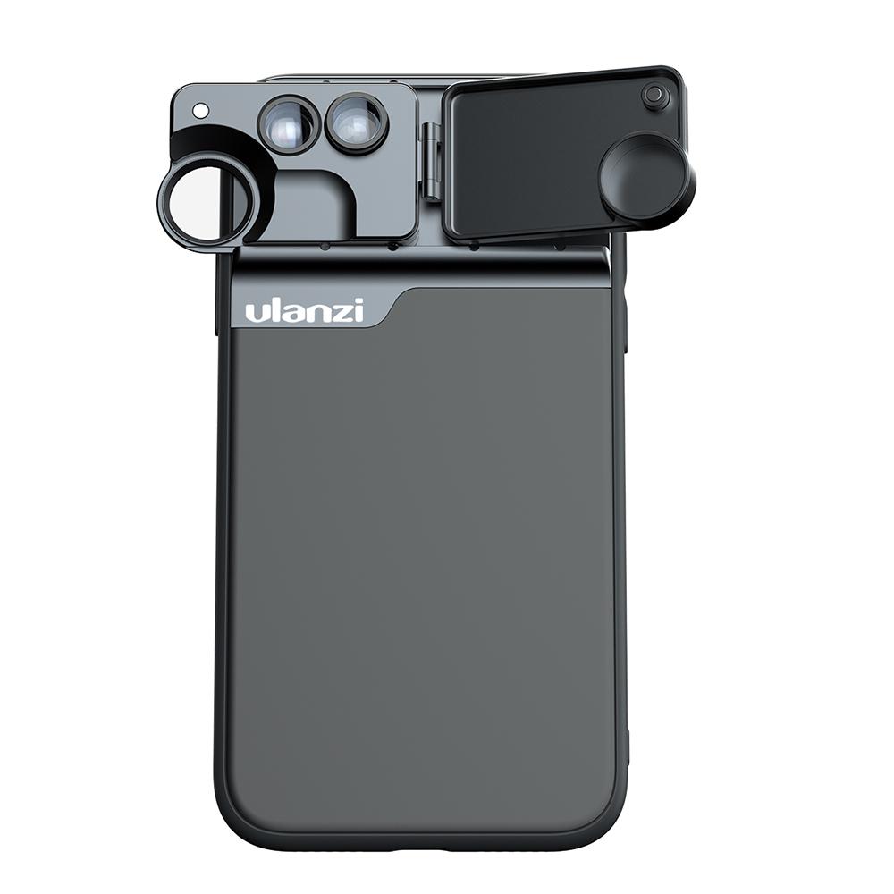 5 in 1 Phone Lens Case Kit 20X Super Macro Lens CPL Fisheye Telephoto Lens for  iPhone 11 Pro Max