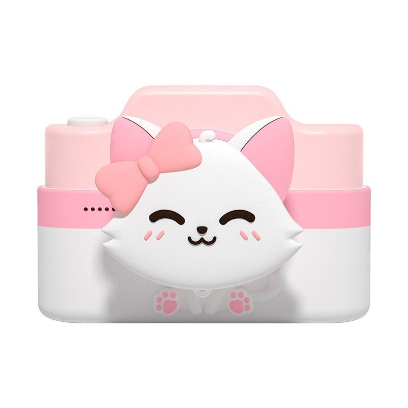 C4 Wifi 4800w Dual Cards Children Digital Camera Christmas Gift Kids Camera Cat pink