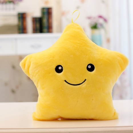 Five-pointed Star Shape Colorful Lighting Music Throw Pillow for Girlfriend
